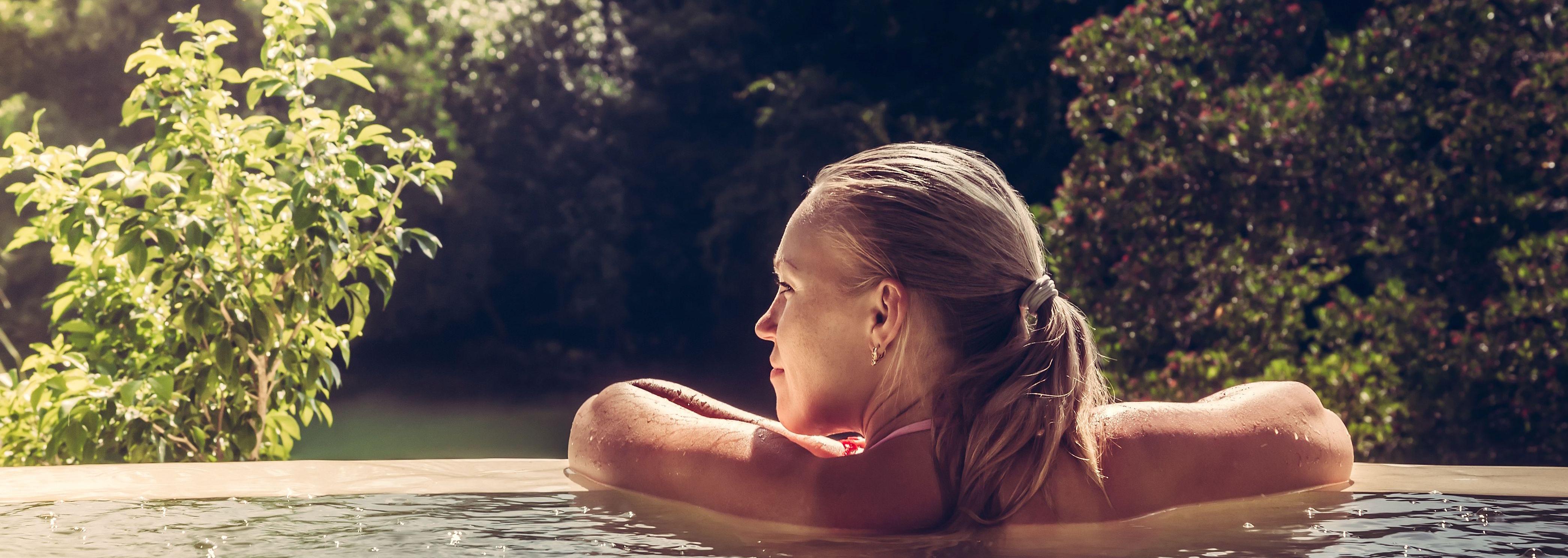 Sauna en hot tub relax area